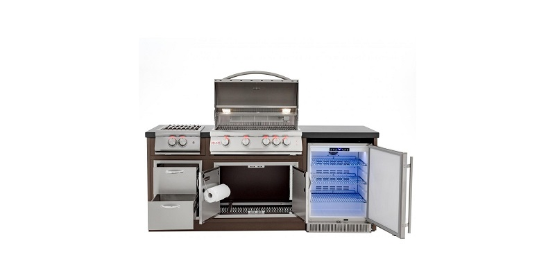 Complete BBQ Grill Island