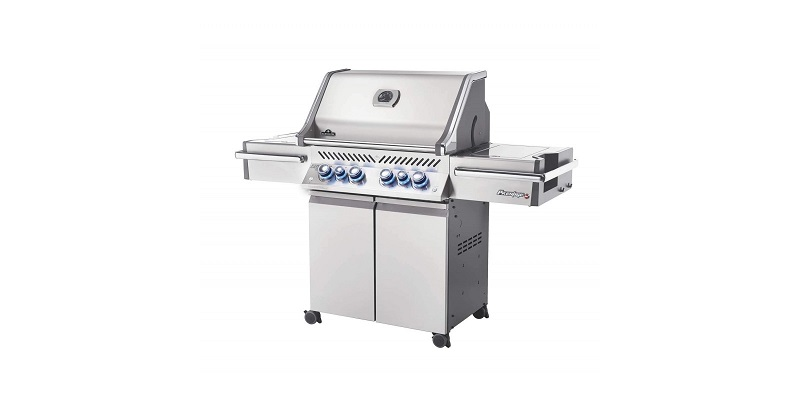 Napoleon PRO 500 Gas Grill on Cart with Rotisserie and Side Burner
